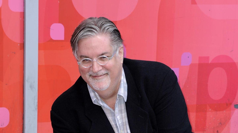 Matt Groening, Erfinder der Simpsons vor seinem Stern auf dem Walk of Fame