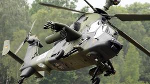 Ein Kampf-Hubschrauber vom Typ Tiger