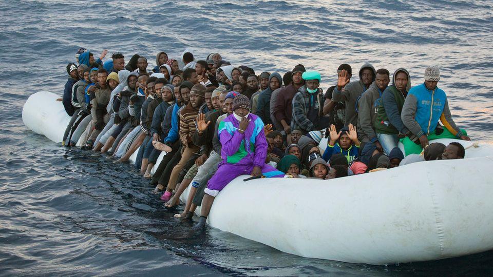 Flüchtlingskrise: So viele Flüchtlinge kommen über das Mittelmeer nach Italien