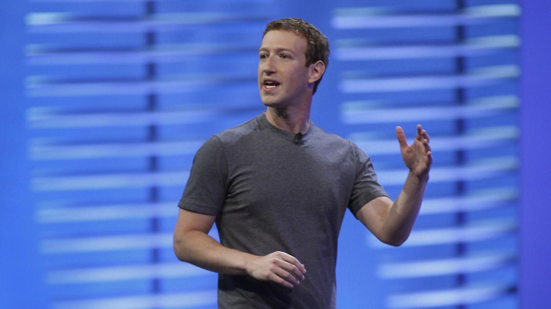 Unternehmenschef Mark Zuckerberg hält eine Präsentation