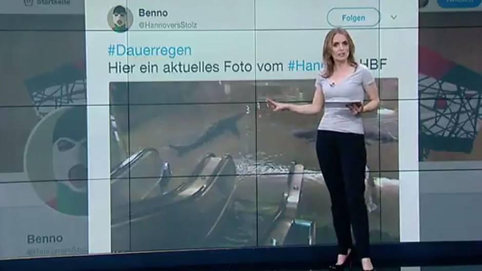 Twitter-User erlaubt sich Hochwasser-Scherz | Haie im Hauptbahnhof Hannover?