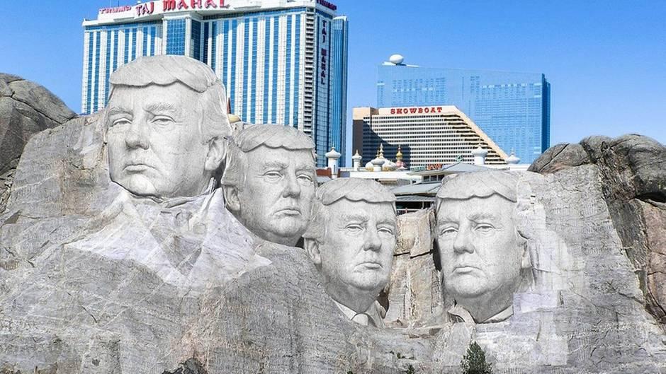 Legendäres Präsidenten-Denkmal: Trump fragt, ob er am Mount Rushmore verewigt sein soll - das Netz reagiert grandios