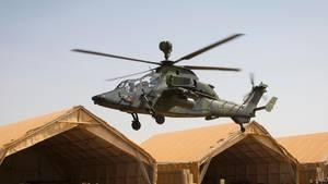 Der Bundeswehrhubschrauber Tiger in Mali