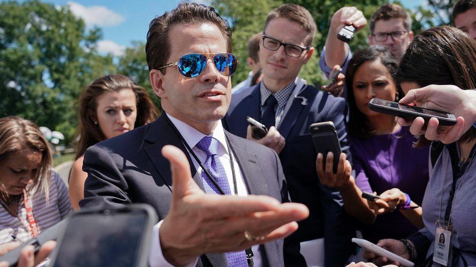 Donald Trumps Kommunikationschef Anthony Scaramucci bei einem Treffen mit der Presse in Washington