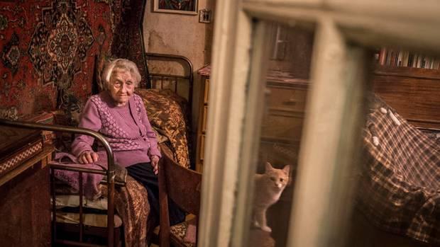 In ihrer Einzimmerwohnung lebt die Ärztin mit acht Katzen und vielen Erinnerungen