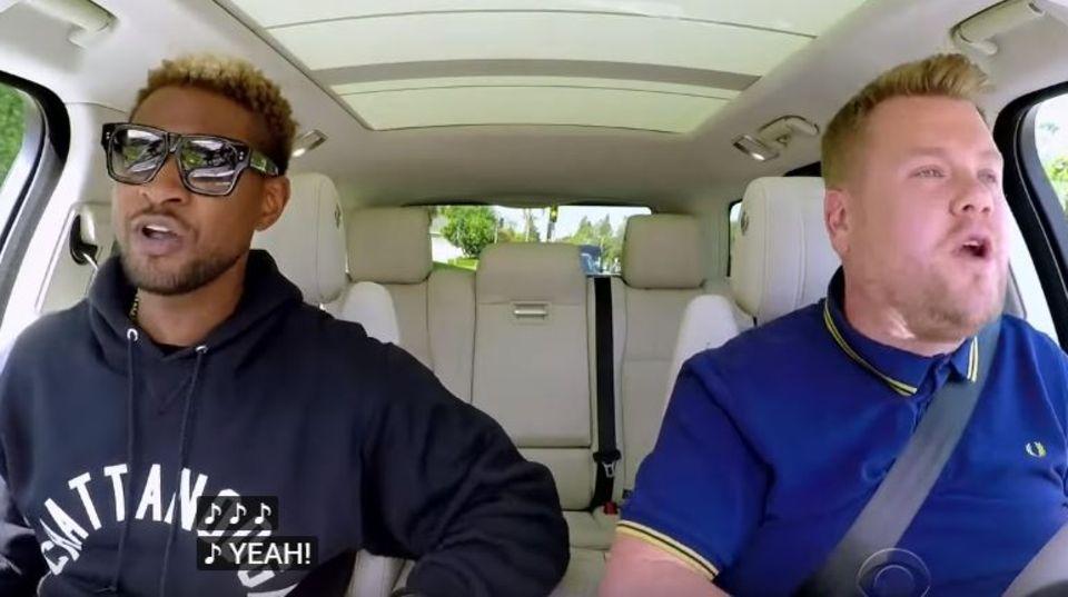 Usher zu Gast bei James Corden in Carpool Karaoke