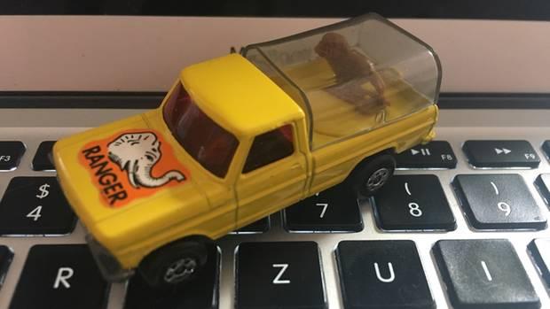 Geschenk von Oma: Frank Behrendts gelber Matchbox-Jeep