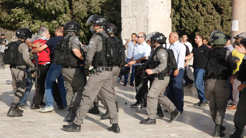Am Tempelberg gerieten erneut israelische Sicherheitskräfte und Palästinenser aneinander