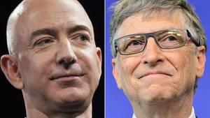 Jeff Bezos und Bill Gates: die reichsten Menschen der Welt