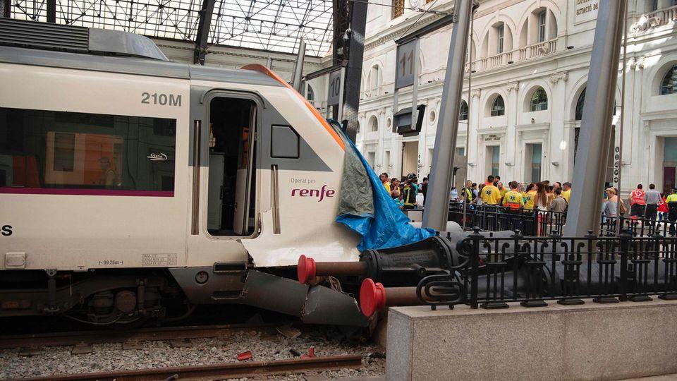 Der Unfall ereignete sich im Bahnhof França in Barcelona