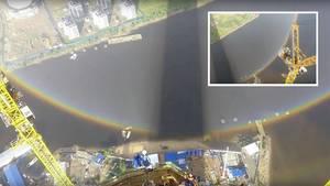 Kreisrunder Regenbogen: Seltene Naturphänomen in St. Petersburg zu sehen