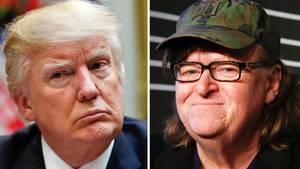 """29. Juli  Theater gegen Trumps Amerika: Michael Moore spielt zum ersten Mal am Broadway  Der Dokumentarfilmer Michael Moore (63, """"Bowling for Columbine"""") hat am New Yorker Broadway sein Solostück """"Terms of my Surrender"""" (""""Bedingungen für meinenRückzug"""") präsentiert. Rund 1000 Zuschauer feierten am Freitagabend (Ortszeit) die Vorpremiere des Polit-Stücks.  Auf reduzierter Bühne mit US-amerikanischer Flagge im Hintergrund hatte der weitgehend satirische Abend viele Elemente einer TV-Late-Night-Show und eines Comedysolo-Auftritts. Moore wetterte aber auch gegen Trumps Aufstieg im Reality-TV und setzte mit Geschichten über den Trinkwasserskandal in seiner(Moores) Heimatstadt Flint, bei dem Tausende Menschen vergiftet wurden,auch ernstere Töne. Das Stück läuft noch einige Wochen als Preview, offizielle Premiere ist am 10. August. Moore spielt bis 22. Oktober acht Mal pro Woche."""