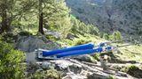 Allein die Tragseile wiegen acht Tonnen.In nur drei Monaten Bauzeit hat die Firma Swissrope aus Frutigen die Hängebrücke errichtet.