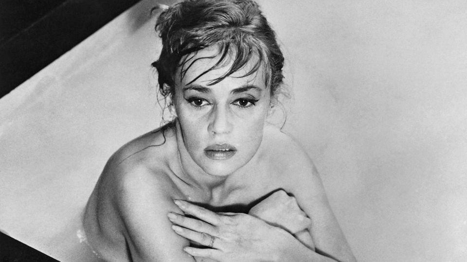 """Schauspielerin Jeanne Moreau im Film """"Eva"""" von Regisseur Joseph Losey"""