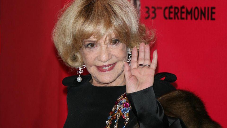 Jeanne Moreau bei der 33. Verleihung des César, einem französischen Filmpreis