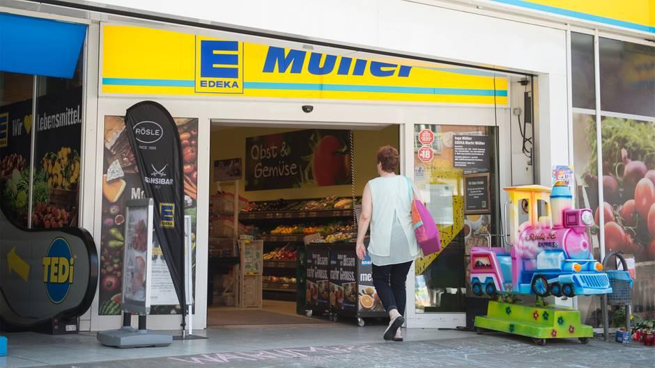 Edeka-Supermarkt in Hamburg