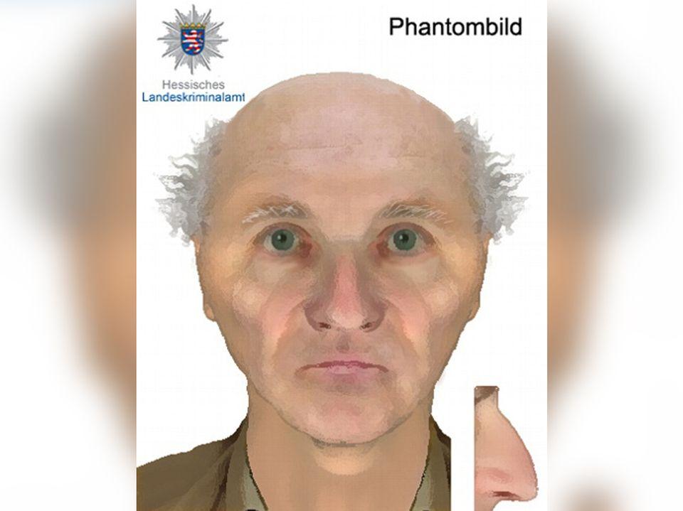 Mit diesem Phantombild sucht die Polizei nach dem Fahrer des BMW