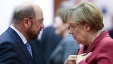 Martin Schulz und Angela Merkel kämpfen um die nächste Kanzlerschaft