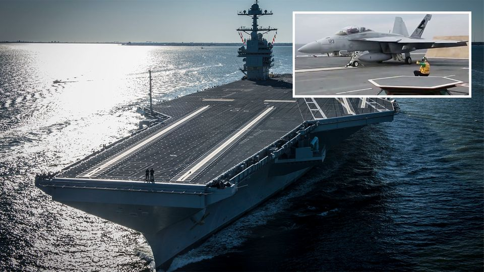 USS Ford Flugzeugträger Kampfjet