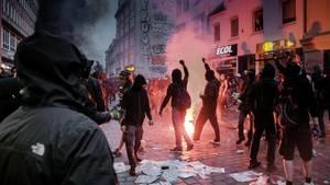 Der Schwarze Block randaliert beim G20-Gipfel in Hamburg