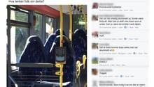 Sechs leere Bussitze