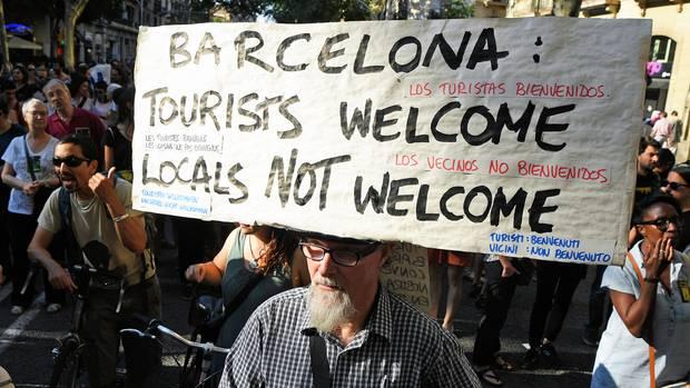 Proteste in Barcelona gegen den Massentourismus