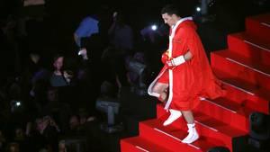 Wladimir Klitschko läuft ein in die König-Pilsener-Arena in Oberhausen