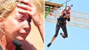 Giulia Siegel ist völlig aufgelöst nach der Herausforderung in luftiger Höhe