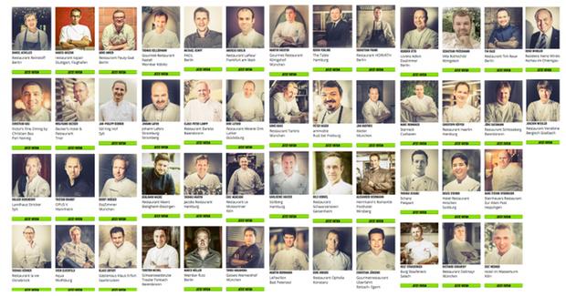 """Das sind laut des Magazins """"Rolling Pin"""" die 50 besten Köche Deutschlands"""