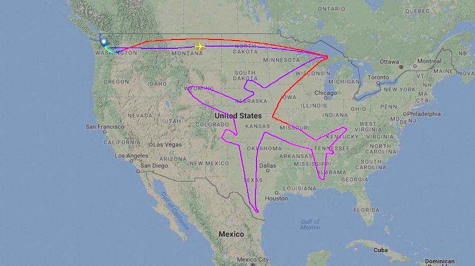 Mehr als ein PR-Gag: Boeing malt sich selbst in den Himmel