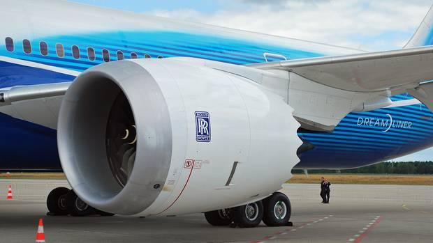 Dreamliner mit Rolls-Royce-Treibwer