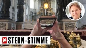 Frank Behrendt wurde im Petersdom Zeuge einer Handyfoto-Orgie
