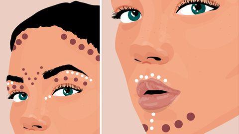 Ob Stirn, Wangenknochen, Nase oder Kinn: Contouring, richtig eingesetzt, betont die Gesichtszüge optimal