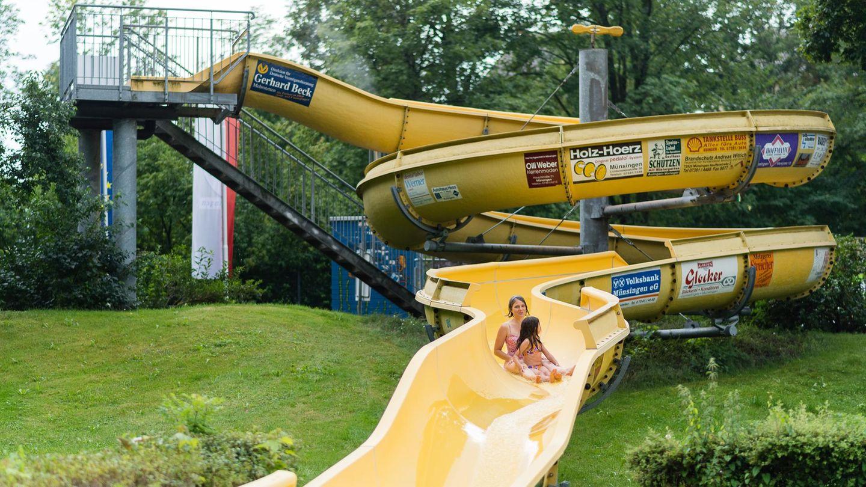 Wasserrutsche im Freibad in Münsingen