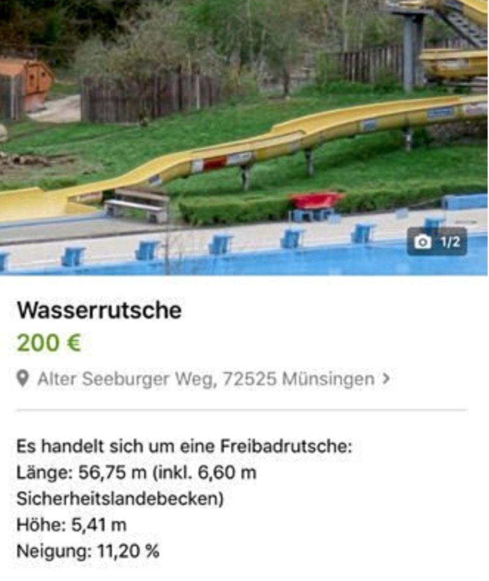 Skurriler Ebay-Verkauf: Wer hat Platz in seinem Garten? Diese echte Freibadrutsche soll nur 200 Euro kosten