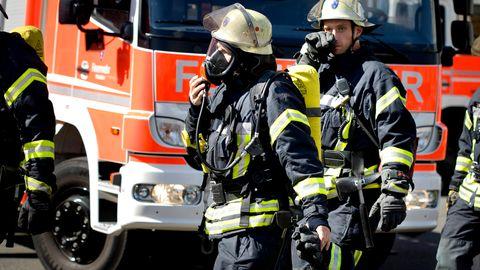 Feuerwehrmänner im Einsatz