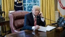 Donald Trump im Oval Office des Weißen Hauses