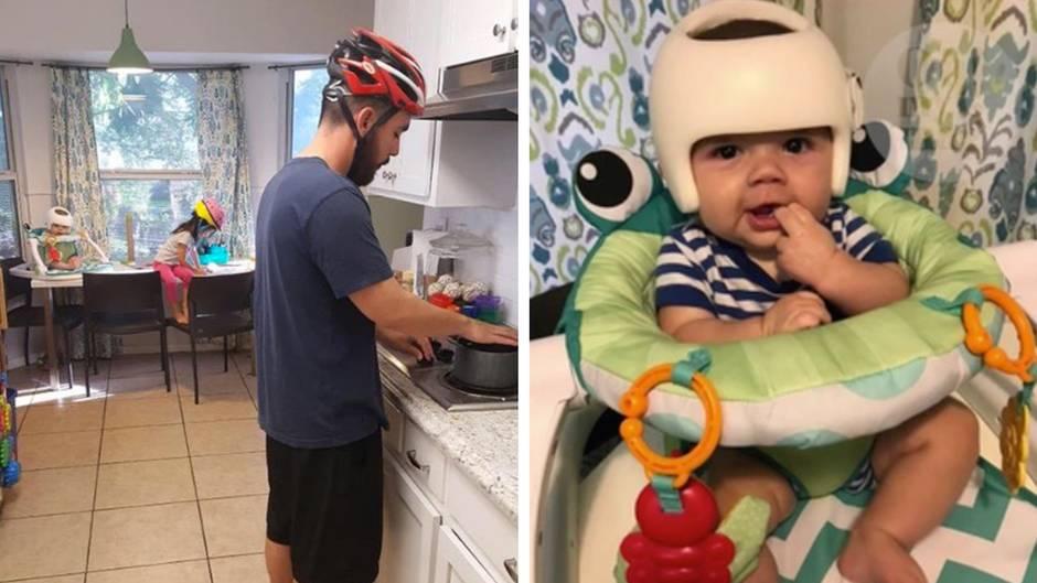 Familiensolidarität: Deswegen trägt diese Familie einmal pro Woche Helme