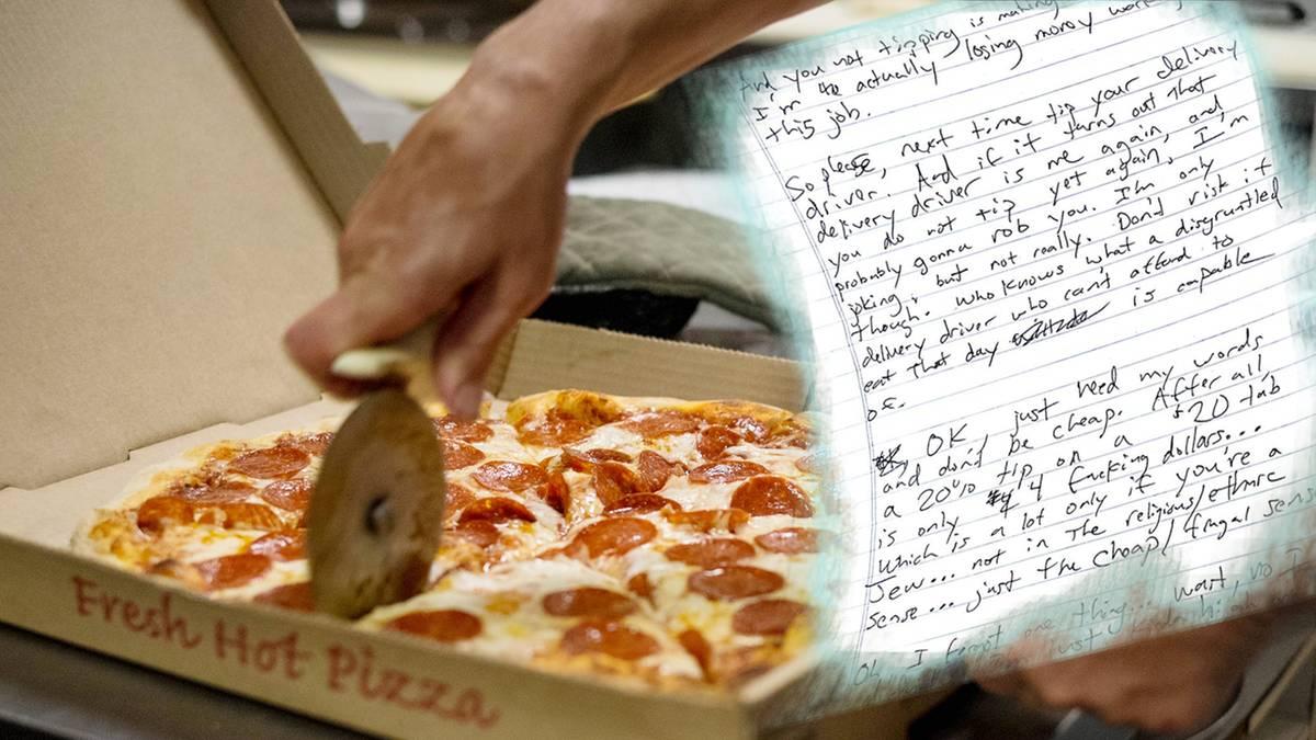 Trinkgeld Pizzabote