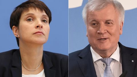 Frauke Petry und Horst Seehofer in einer Bildkombo