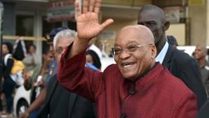 Der südafrikanische Präsident Jacob Zuma in Chatsworth