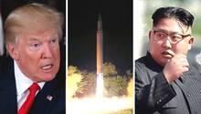 US-Präsident Donald Trump (l.) und Nordkoreas Führer Kim Jong Un (Archivbilder)