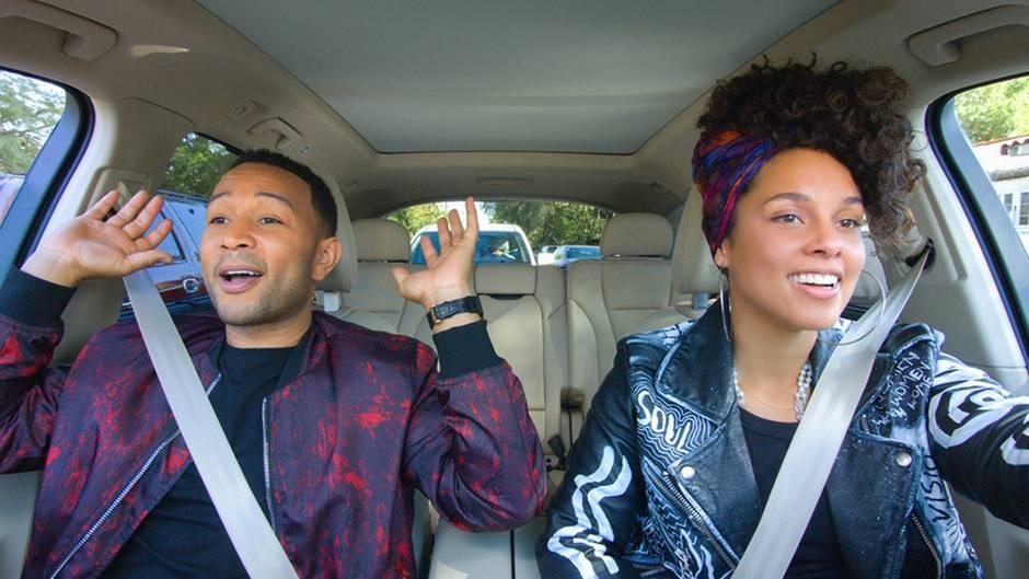 Alicia Keys und John Legend gemeinsam im Auto bei Carpool Karaoke