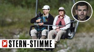 Micky Beisenherz und Angela Merkel