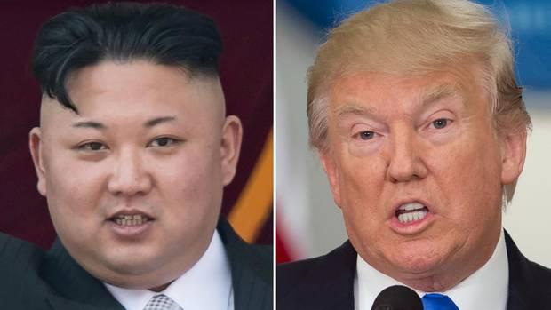 In einem Tweet droht US-Präsident Donald Trump (r.) dem nordkoreanischen Machthaber Kim Jong Un