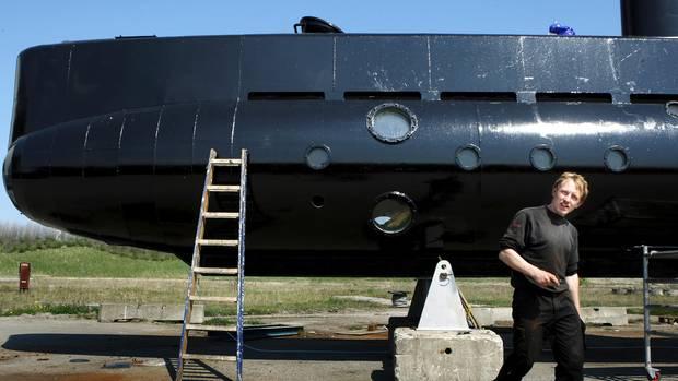 """Das U-Boot """"UC3 Nautilus"""" von Besitzer Peter Madsen sank vor Dänemark (Archivbild)"""