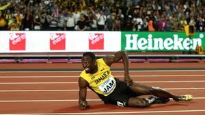 Sprint-Star Usain Bolt stürzte in seinem letzten Rennen