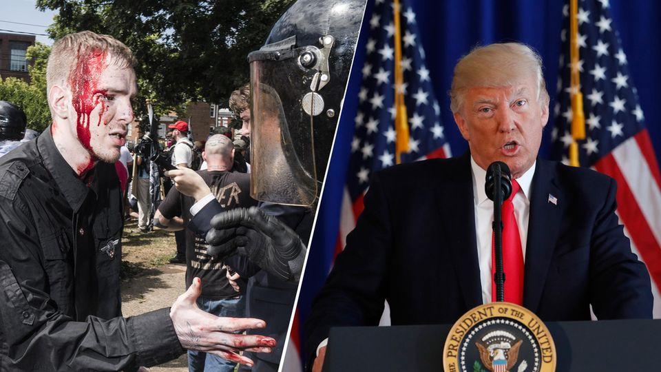 US-Präsident Donald Trump will die Schuldigen vom Samstag nicht beim Namen nennen