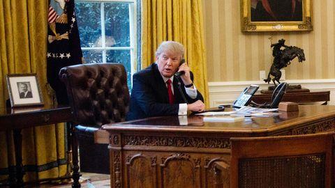 In der Nordkorea-Krise griff US-Präsident Donald Trump zum Hörer und rief den Gouverneur der Pazifikinsel Guam an (Archiv)