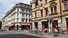 Die Innenstadt von Dresden als Symbolfoto für den Hitlergruß des amerikanischen Touristen in Dresden